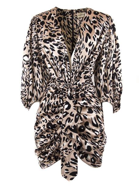 Alexandre Vauthier Powder Silk Blend Dress