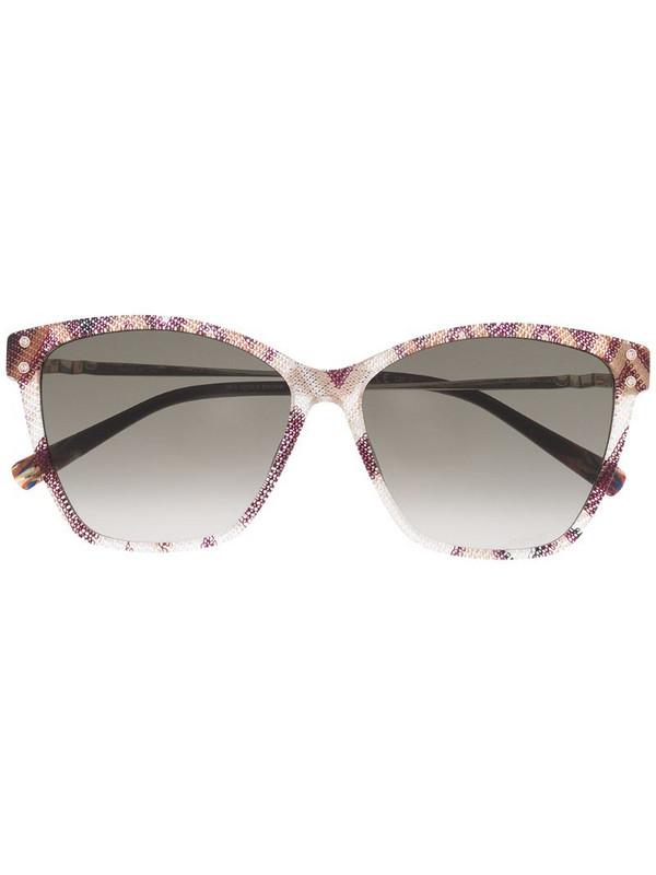 MISSONI EYEWEAR square-frame zig-zag pattern sunglasses in purple