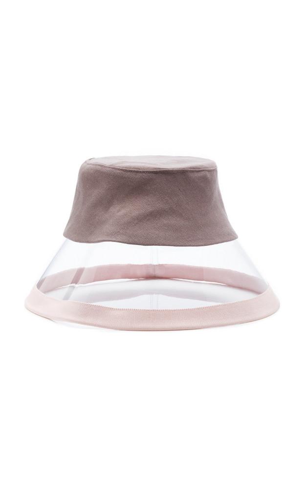 D'Estree Vinyl Bucket Hat in black