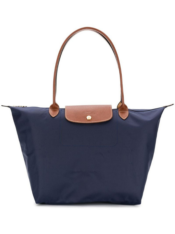 Longchamp large Le Pliage shoulder bag in blue