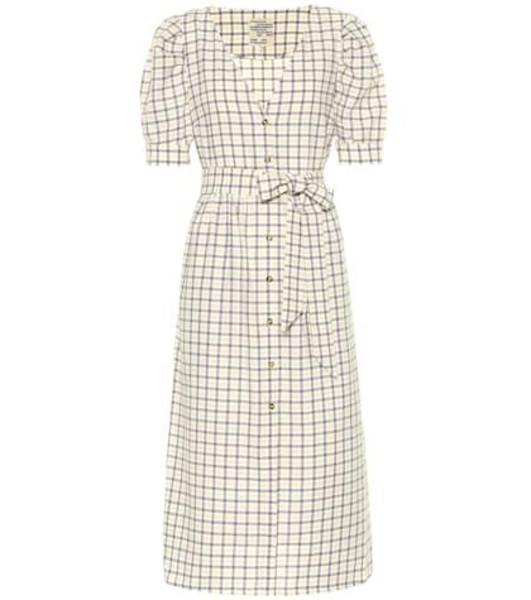 Baum und Pferdgarten Exclusive to Mytheresa – Alma checked cotton midi dress in yellow