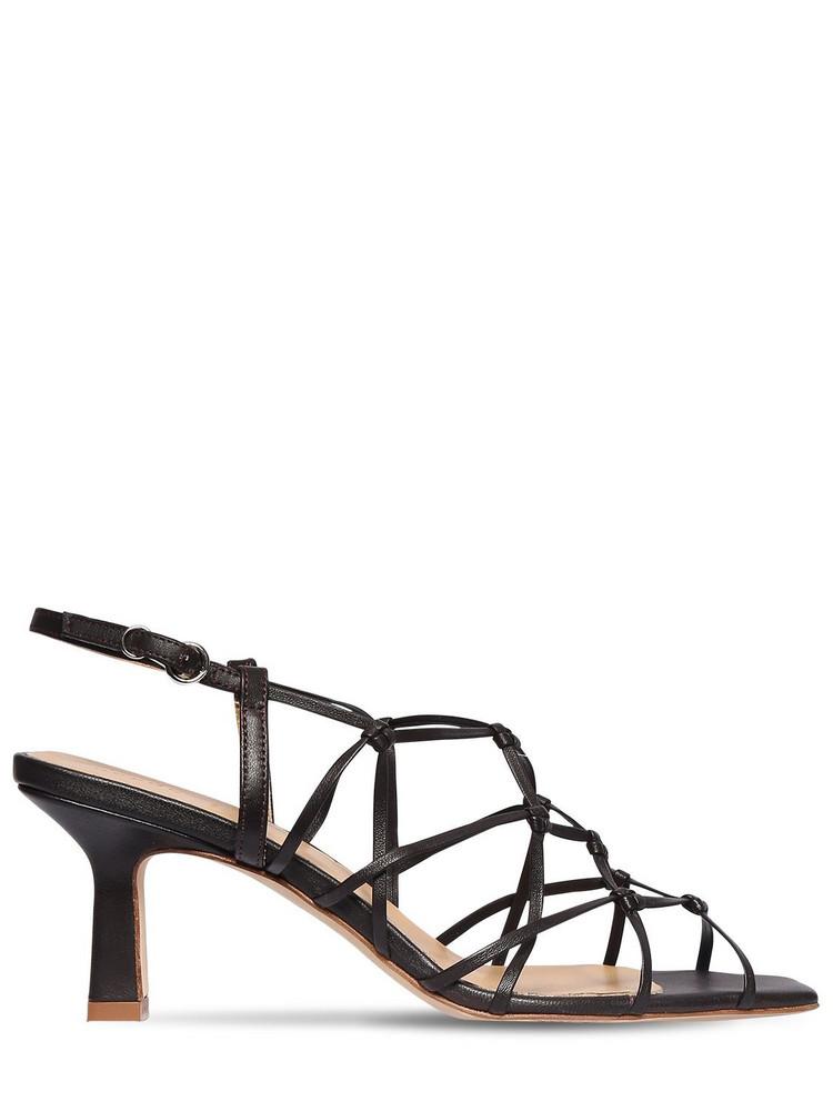 AEYDE 65mm Celia Leather Sandals in black