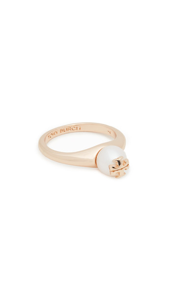 Tory Burch Kira Pearl Ring in gold / ivory