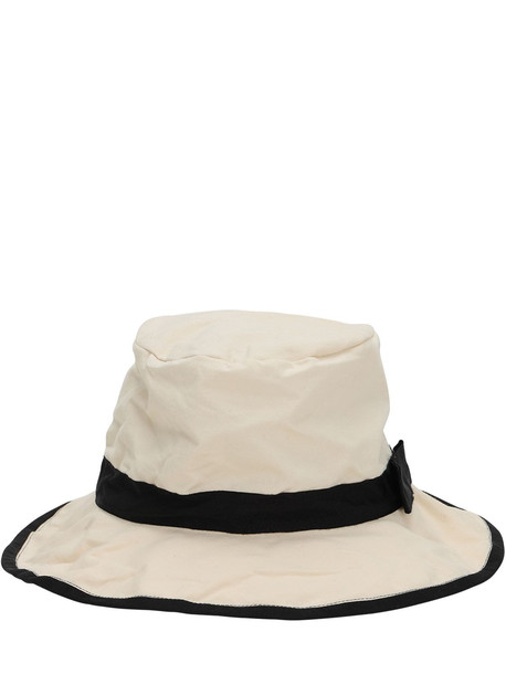 SCHA Raw Cotton Bucket Hat in ecru