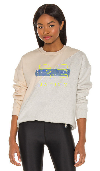 P.E Nation First Position Sweatshirt in Grey in ivory