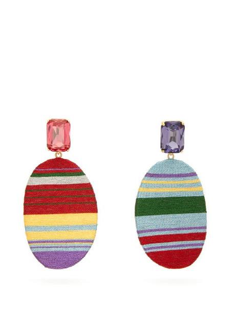 Maryjane Claverol - Georgia Stripe Clip Earrings - Womens - Multi