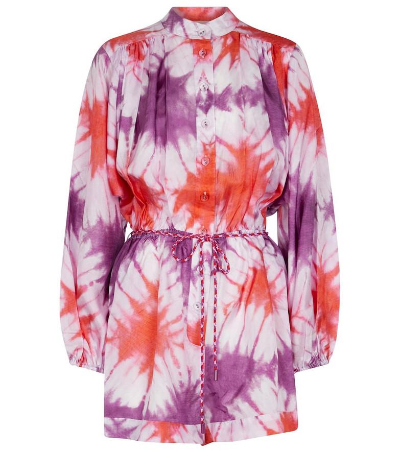 Zimmermann Shelley tie-dye silk chiffon playsuit in purple