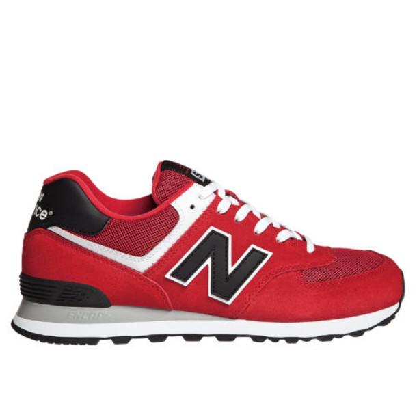 New Balance Varsity 574 Men's 574 Shoes - Red, Black, White (ML574VRK)
