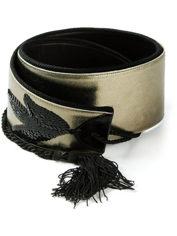 Jean Louis Scherrer Pre-Owned sequined belt in metallic