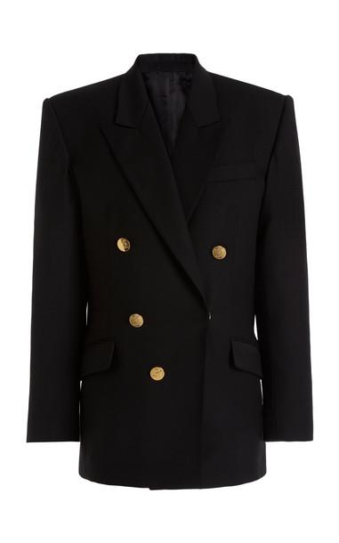 David Koma Oversized Wool Blazer in black
