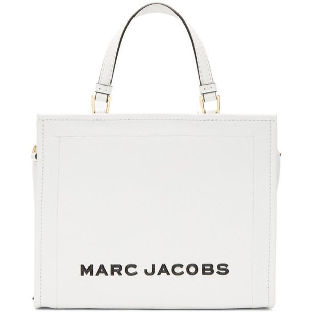 Marc Jacobs White 'The Box' Shopper Bag