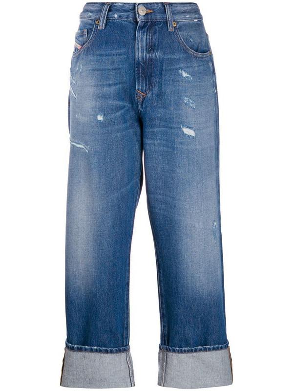 Diesel straight leg jeans in blue