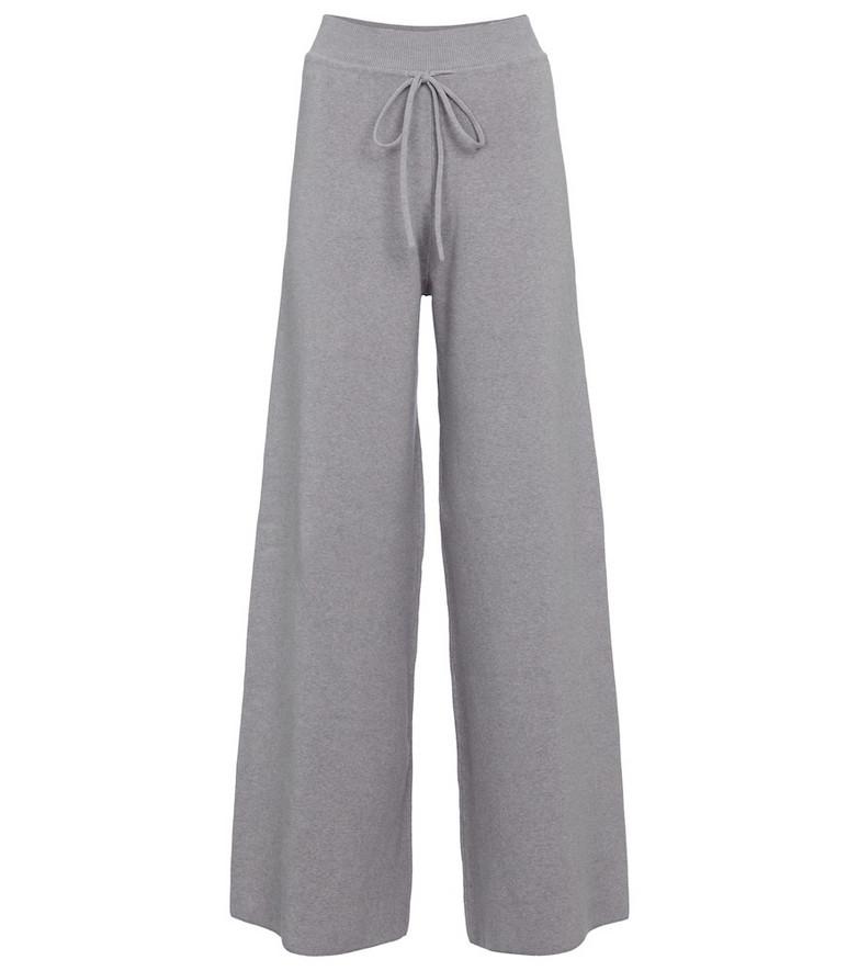 Live The Process Baja knit wide-leg pants in grey