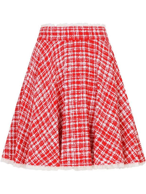 Dolce & Gabbana tweed circle mini skirt in red