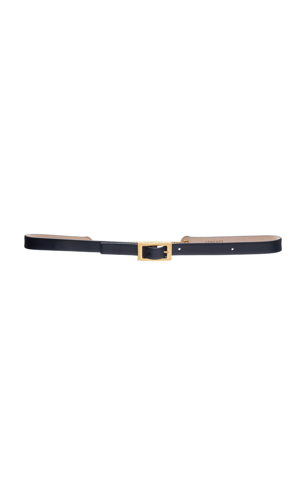 Versace Skinny Leather Belt Size: 65 cm in black