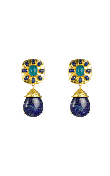 VALÉRE Jade And Lapis Misty Earrings in blue