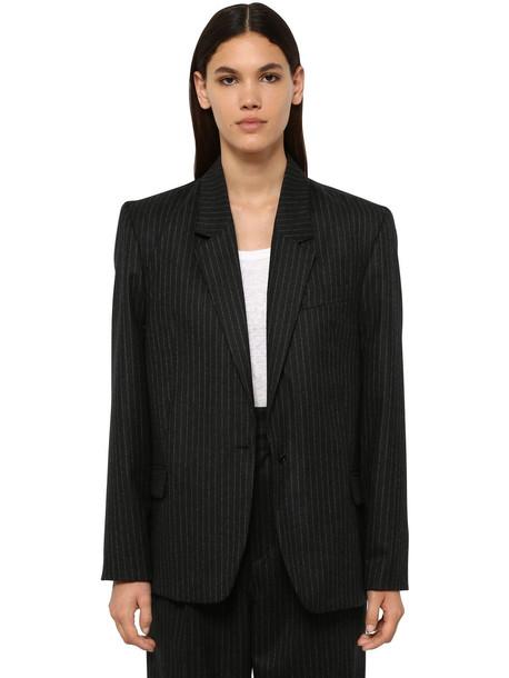 ISABEL MARANT Melinda Wool Blend Jacket in grey