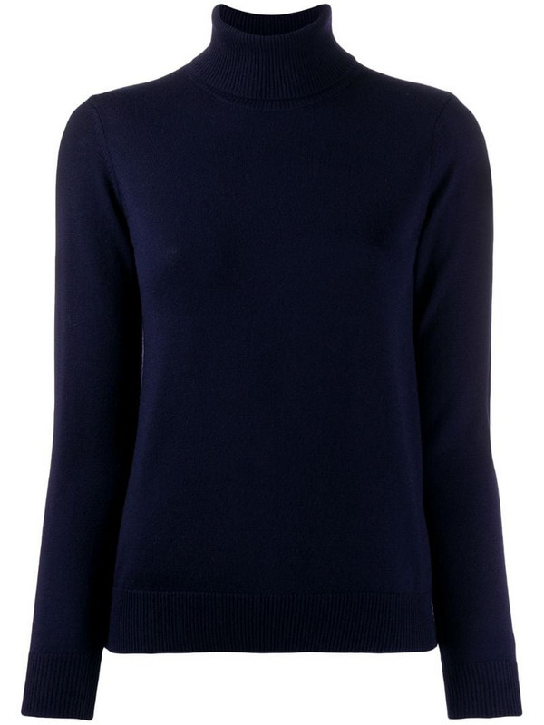 A.P.C. ribbed roll neck jumper in black