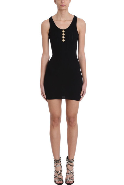 Balmain Black Knit Dress