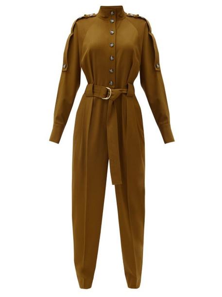 Proenza Schouler - Belted Wool-blend Jumpsuit - Womens - Brown