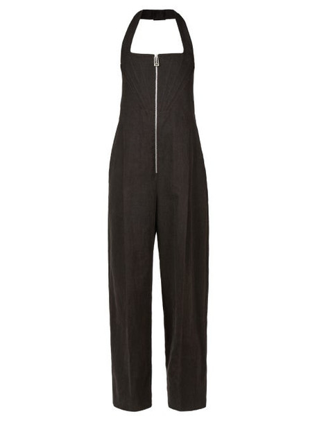 Bottega Veneta - Front-zip Wide-leg Jumpsuit - Womens - Brown