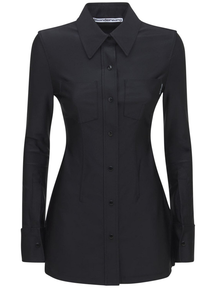 ALEXANDER WANG Corset Shirt W/ Boning in black