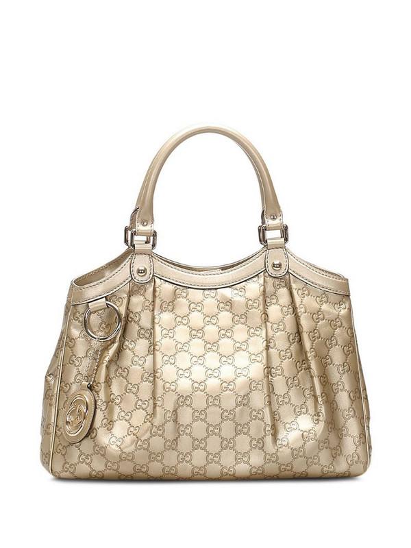 Gucci Pre-Owned Sukey GG Supreme tote bag in gold