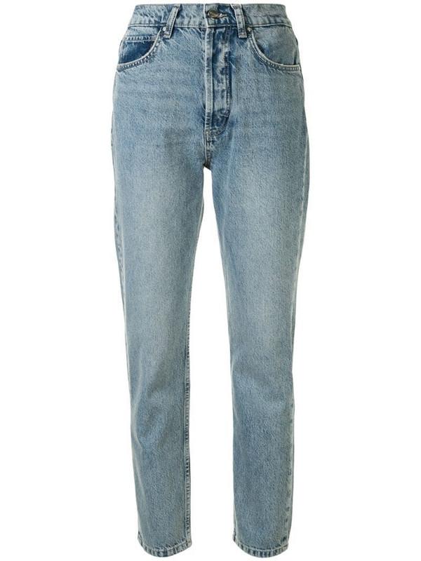 ANINE BING Sonya slim-fit jeans in blue