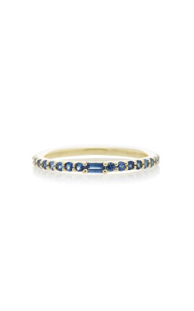 ILA Manava 14K Gold Sapphire Ring Size: 6 in blue