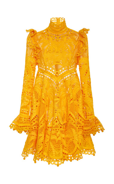 Zimmermann Brightside Palm Mini Dress Size: 0 in yellow