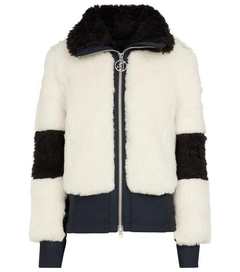 Toni Sailer Linea faux fur jacket in white