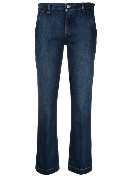 7 For All Mankind mid-rise cropped jeans in blue