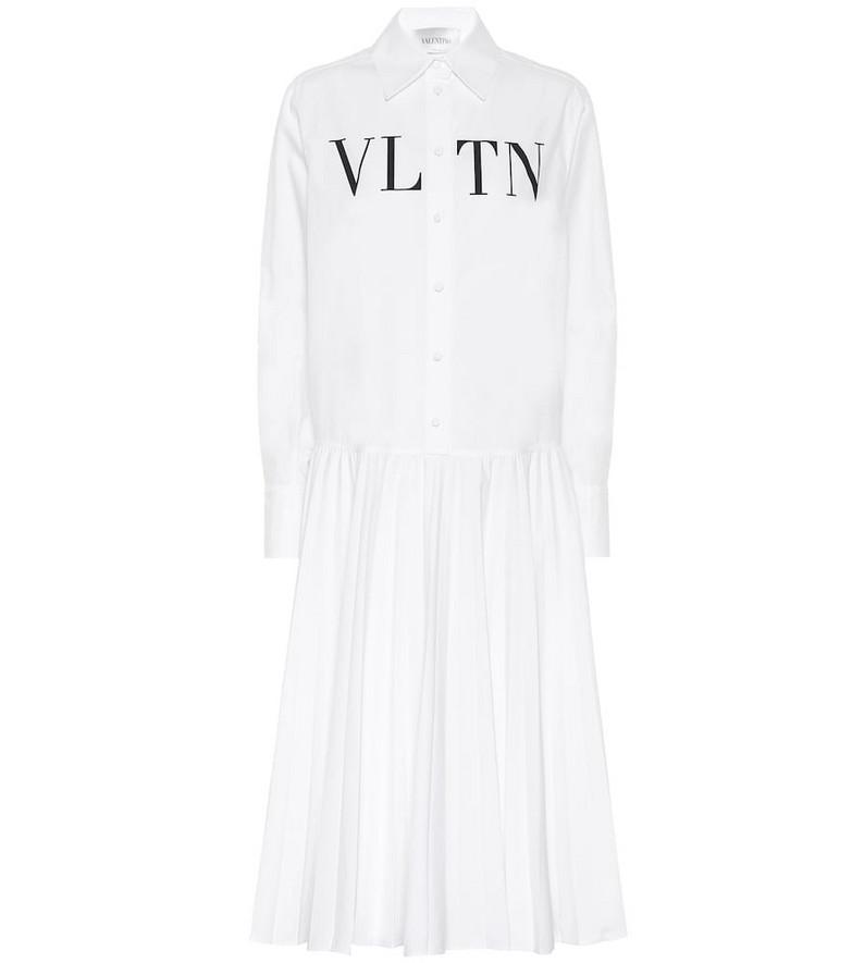 Valentino VLTN cotton shirt dress in white