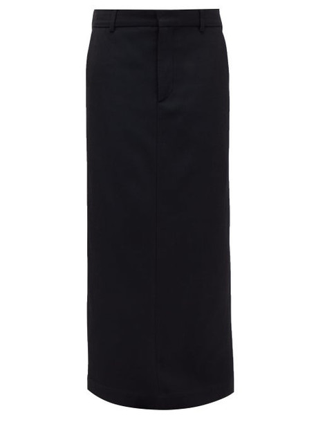 Raey - Textured Twill Maxi Skirt - Womens - Navy