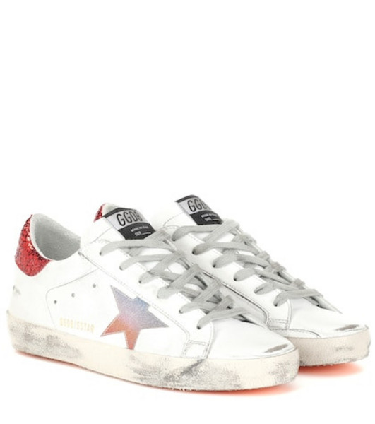 Golden Goose Deluxe Brand Superstar leather sneakers in white