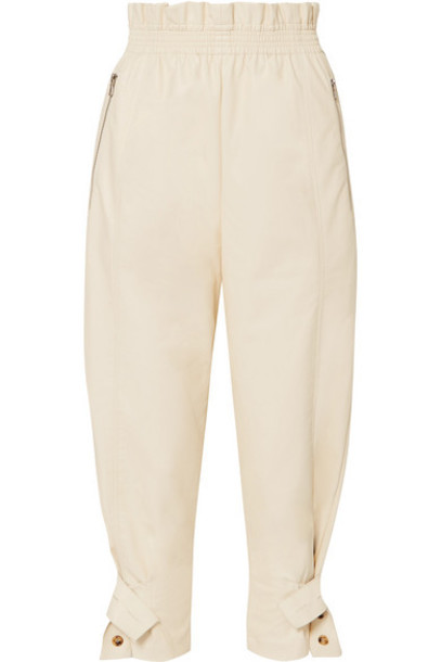Frankie Shop - Xenia Faux-leather Tapered Pants - Cream
