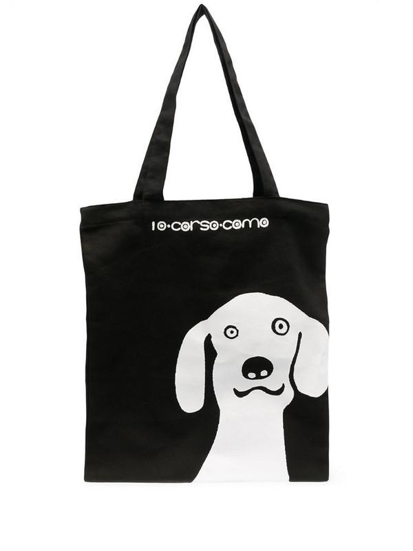 10 CORSO COMO dog-print tote bag in black