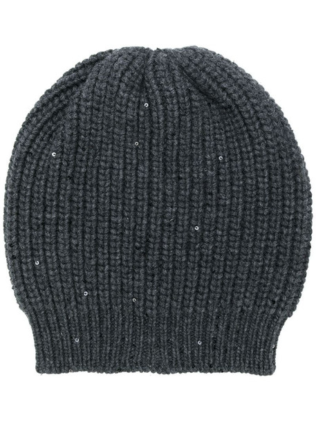 Brunello Cucinelli chunky knit beanie in black