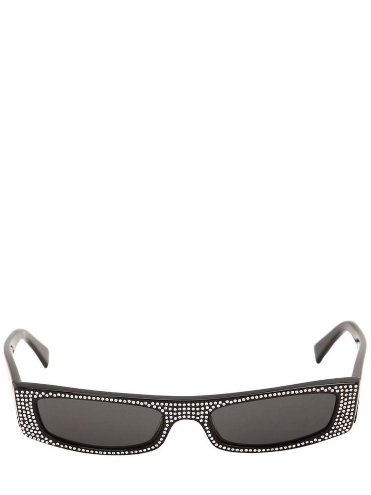 ALAIN MIKLI & ALEXANDRE VAUTHIER Edwidge Embellished Sunglasses in black