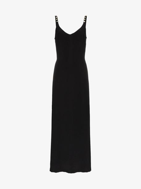 Staud silk maxi dress in black