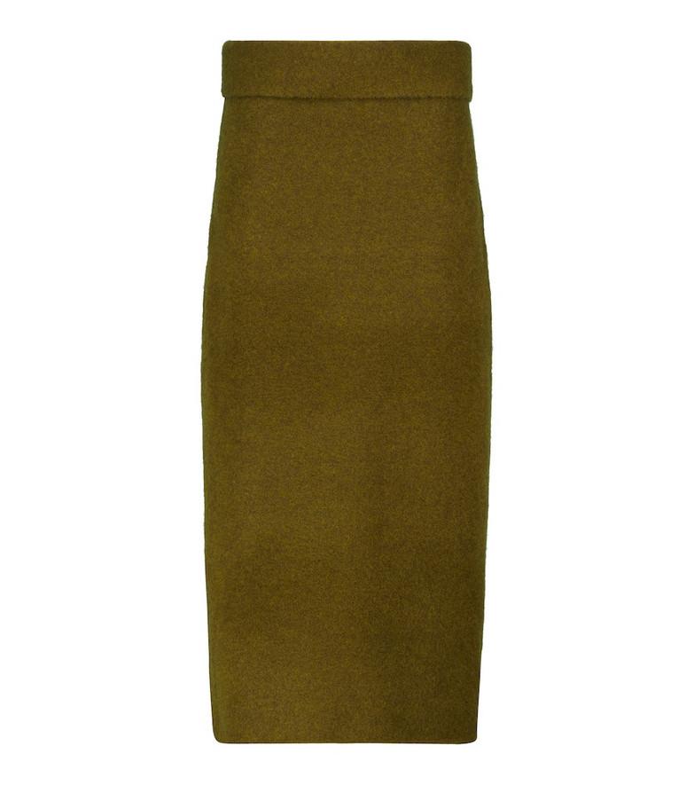 Proenza Schouler Low-rise knit maxi skirt in brown