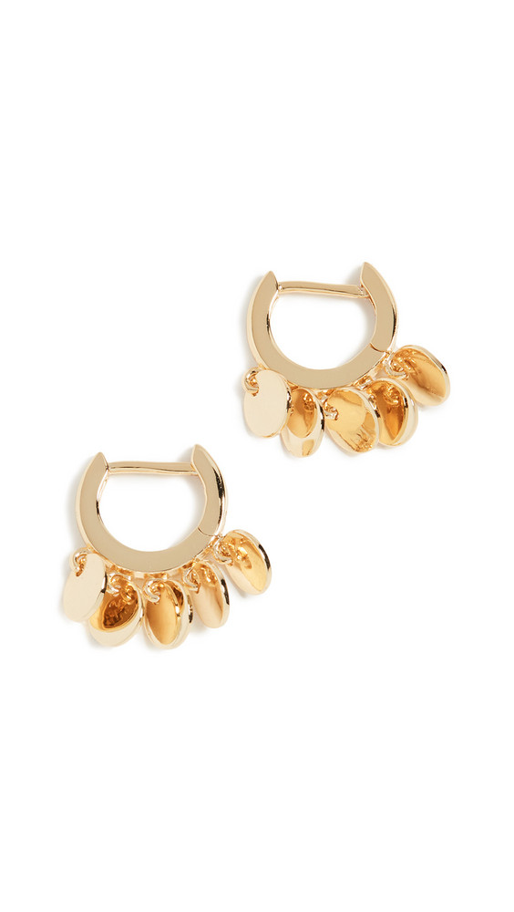 Jules Smith Disc Huggy Earrings in gold