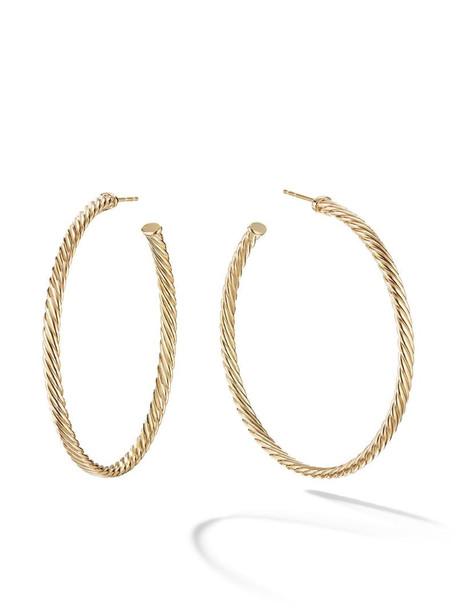 David Yurman 18kt yellow gold Cablespira hoop earrings