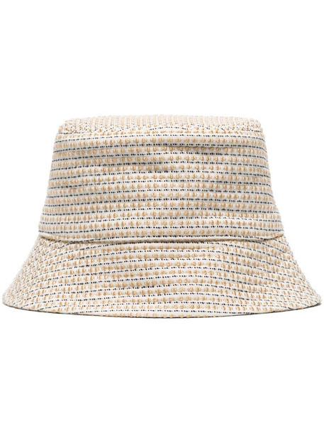 Ruslan Baginskiy embroidered cotton bucket hat in neutrals