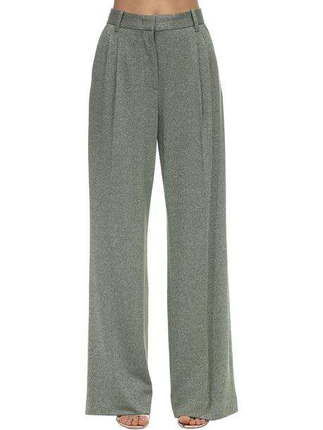 M MISSONI Flared Lurex Jersey Pants in green