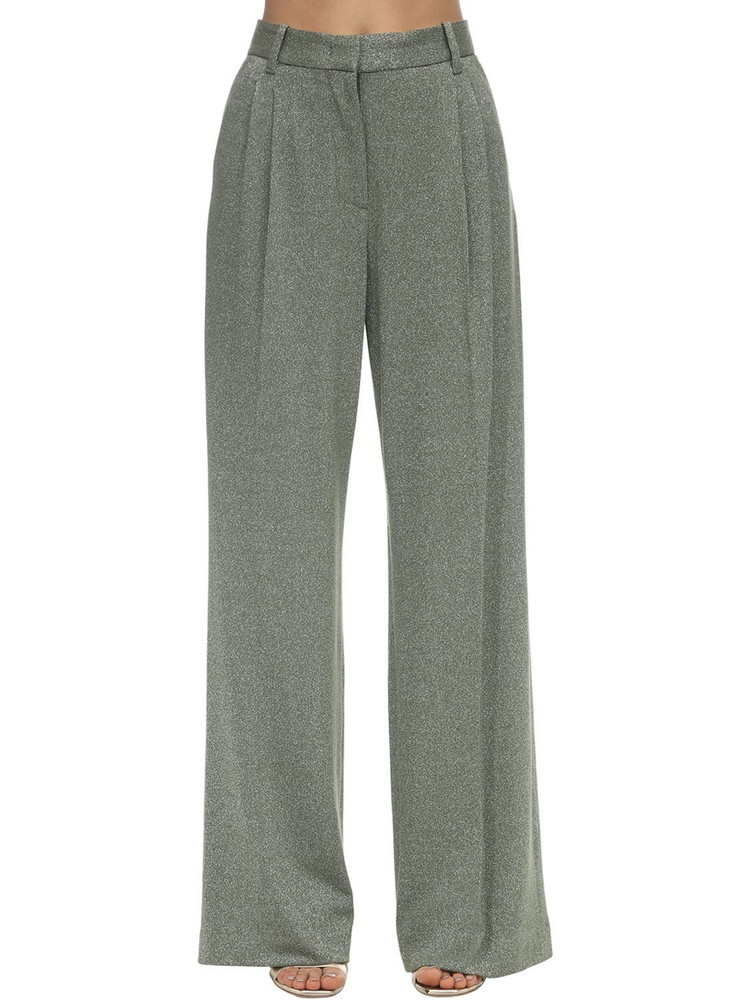 M MISSONI Flared Lurex Jersey Pants in green