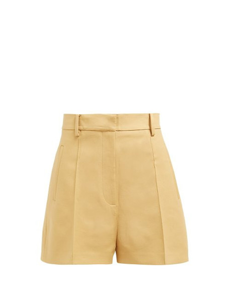 Khaite - Casey Cotton Twill Shorts - Womens - Beige