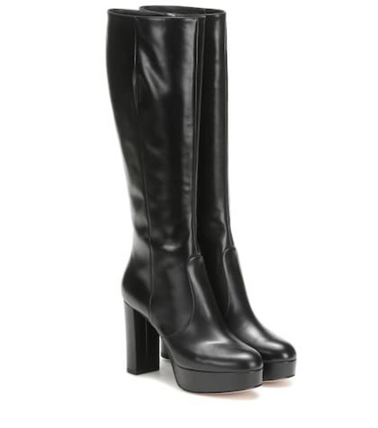 Gianvito Rossi Dominique knee-high leather boots in black