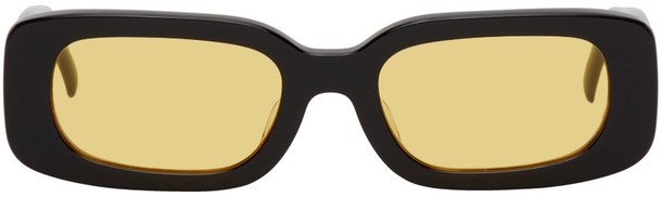 BONNIE CLYDE Black & Yellow Show And Tell Sunglasses
