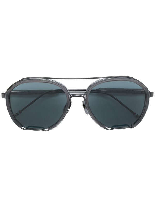 Thom Browne Eyewear aviator sunglasses in grey